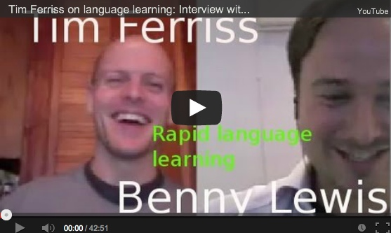 Tim Ferriss, interview on language learning